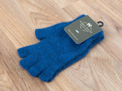 Image of Regatta Blue Unisex Fingerless Gloves Possum Merino Wool - NW5026