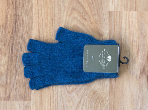 Regatta Blue Unisex Fingerless Gloves Possum Merino Wool - NW5026