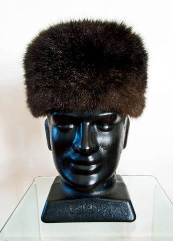 Image of Russian Cossack Shorter Possum Fur Hat - Chocolate Brown