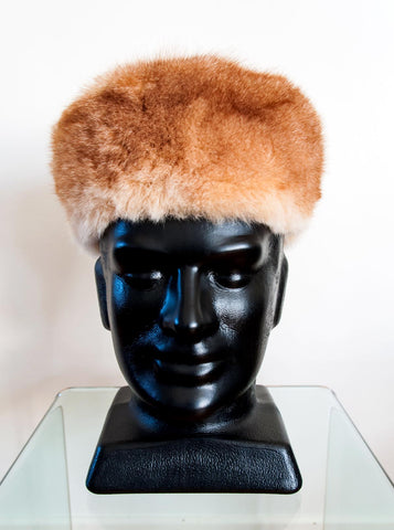 Image of Russian Cossack Shorter Design Possum Fur Hat - Honey