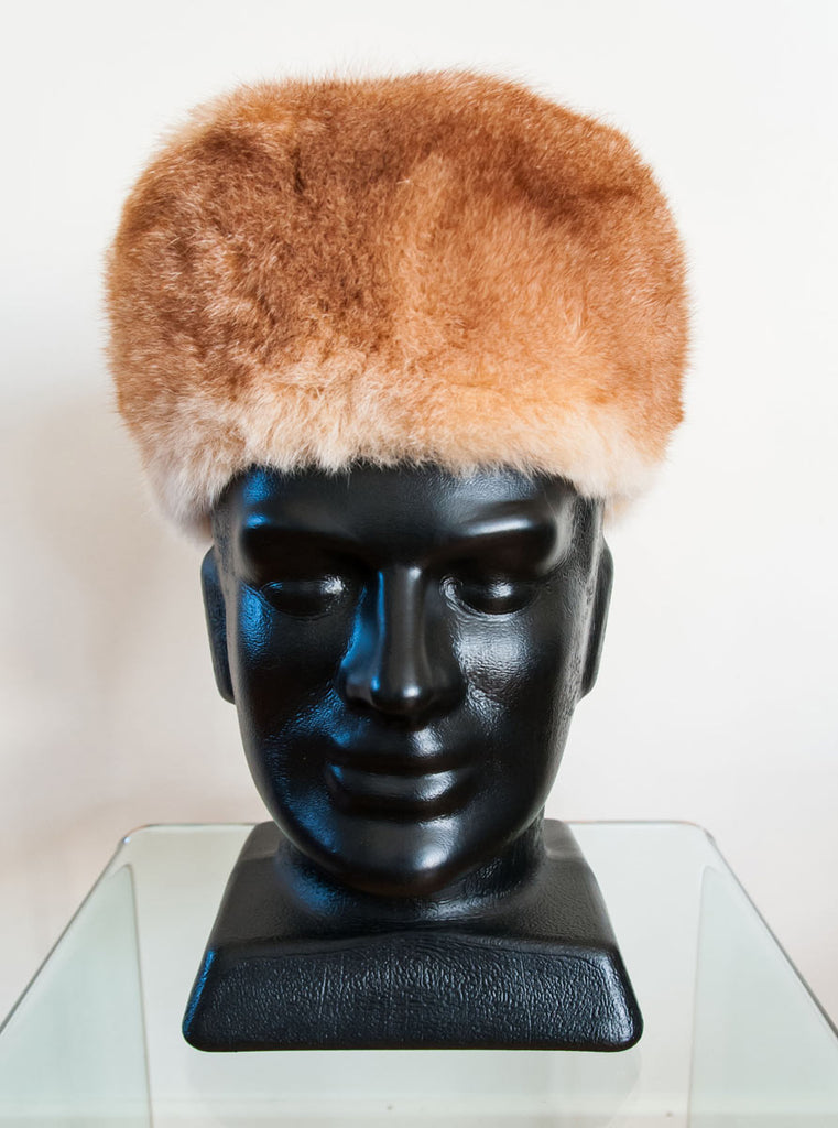 Russian Cossack Taller Design Possum Fur Hat - Honey