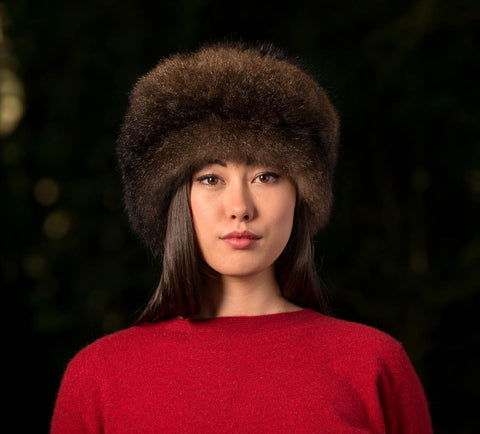 Image of Russian Cossack Taller Possum Fur Hat - Chocolate Brown