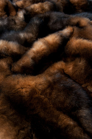Natural Reddish Brown Possum Fur Bed Footer