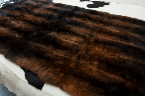 Image of Natural Reddish Brown Possum Fur Bed Footer