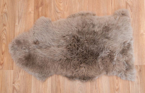 Taupe Beige Dyed Single Sheepskin Rug