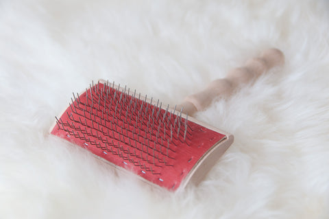 Sheepskin Wool Carding Brush - Wire Brush by Gorgeous Creatures