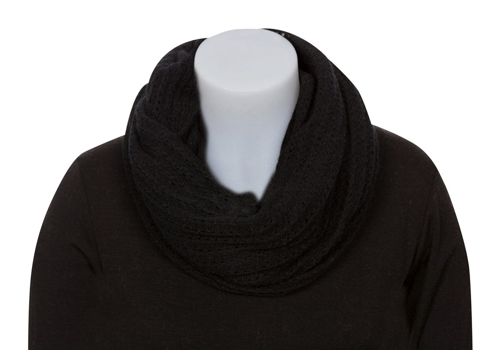Native World Black Endless Lace Loop Scarf - NX479