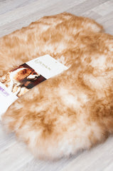 Small Sheepskin Pet Bed - Lined Square 35x35cm