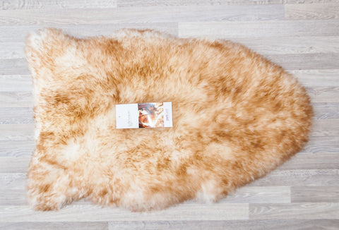 Image of Large Sheepskin Wool Pet Bed - Natural Shape 50x80cm
