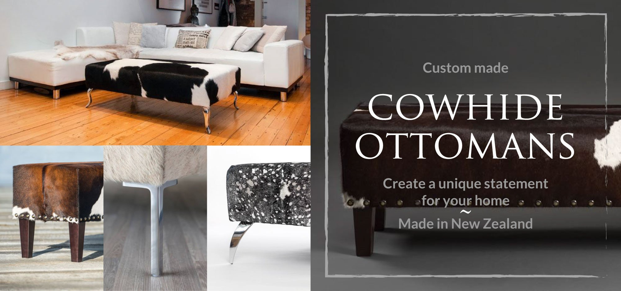 Cowhide Ottomans & Bench Seats