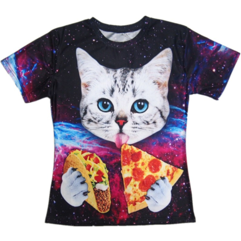 Hungry Cat in Space T-Shirt