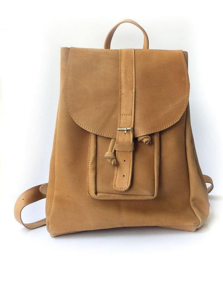 029a2ae6aadb ABAY LADIES BACKPACK-Backpack-GHIONE LEATHER-Medium-Mustard brown-ug- ...