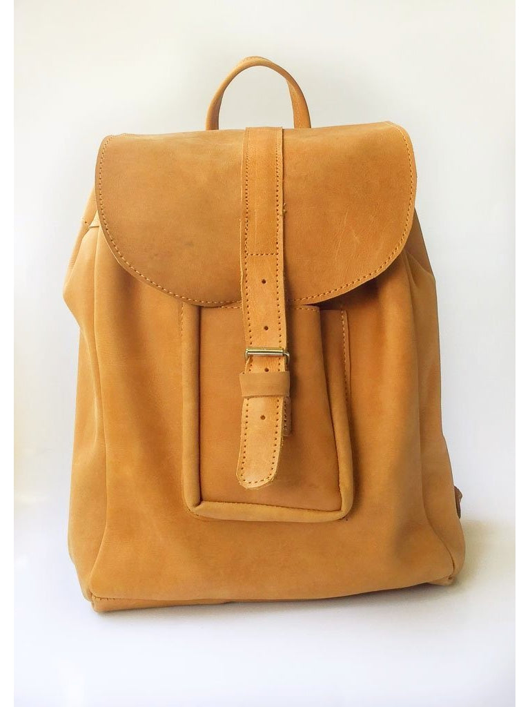 ab9b9b8b9c91 ... ABAY LADIES BACKPACK-Backpack-GHIONE LEATHER-Medium-Light brown-ug- ...