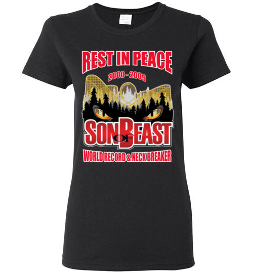 Son Of Beast Rest In Peace Ladies T Shirt