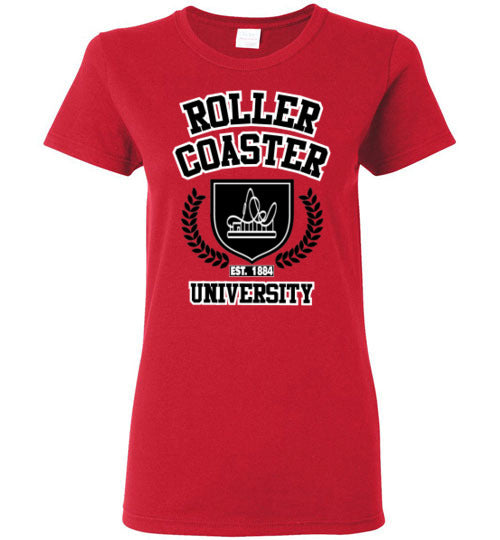 Roller Coaster University 1884 - Ladies T Shirt
