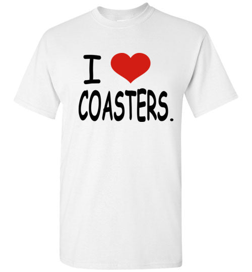 I Love Coasters Shirt: Men/Youth Style/Sizes