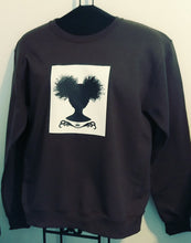 Afro Puff Gurl Vinyl Patch Crewneck Sweatshirt