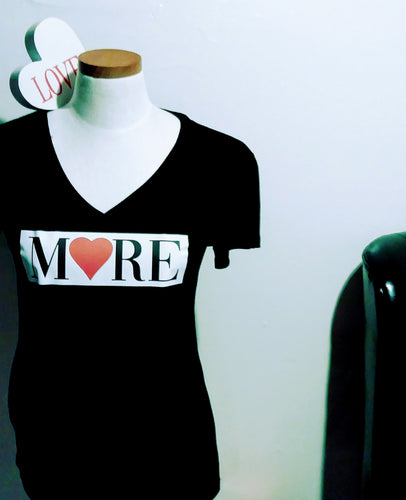 Love More - More Love V-neck Tee