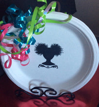 "Afro Puff Gurl 8.75"" Party Plate"