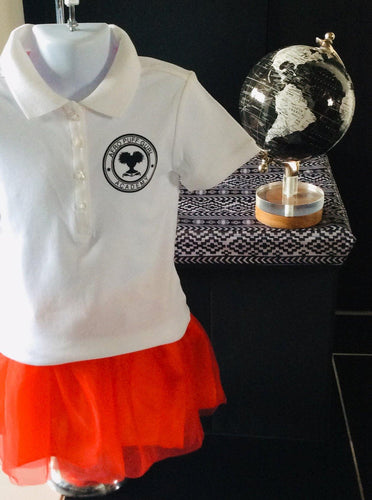 Afro Puff Gurl Academy Polo Tee Shirt
