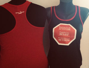 STOP - Racism Prejudice Discrimination Racer-back Tank Top