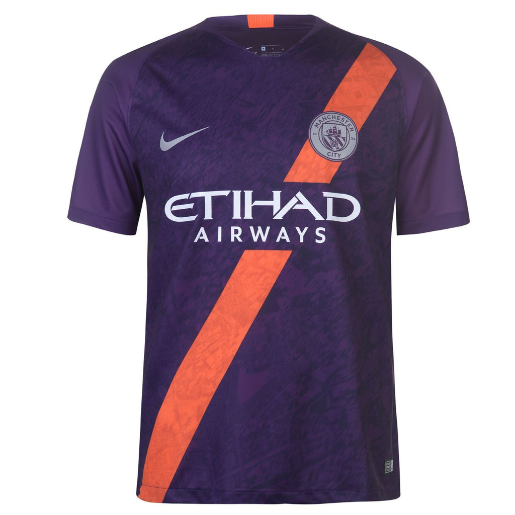 Manchester City KUN AGUERO 10 Football Jersey Third 18 19 Season [Sale Item]