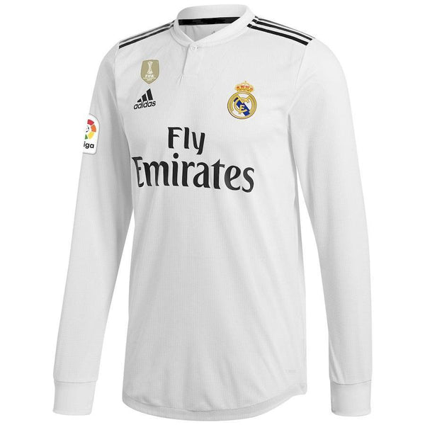 Real Madrid Football Jersey Home Full Sleeve 18 19 Season [Sale Item]