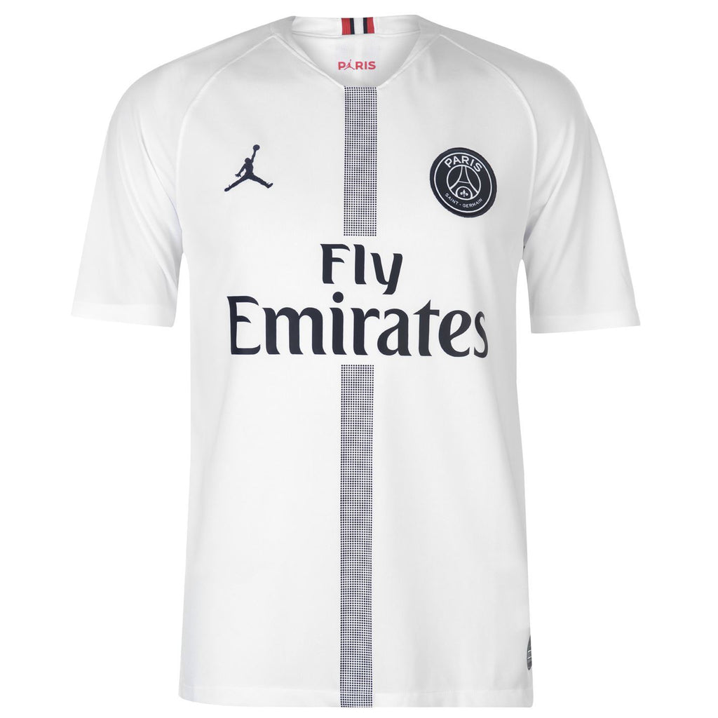 buy online a764b 724aa PSG Jordan MBAPPE 7 White Football Jersey Away 18 19 Season ...