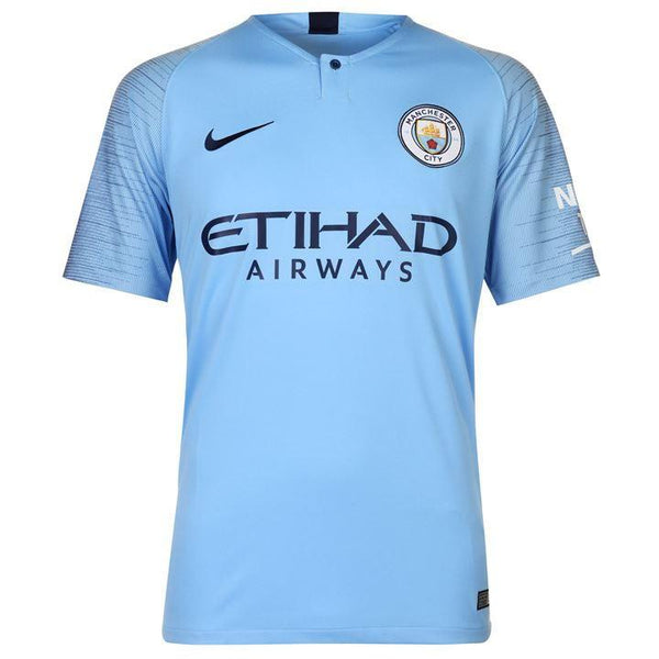 Manchester City KUN AGUERO 10 Football Jersey Home 18 19 Season [Sale Item]