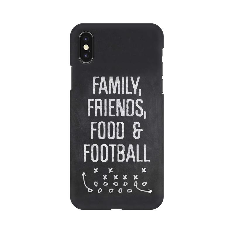 Family Friends Food Football Phone Case[Available For 90+ Phone Models] Phone Case printrove Apple iPhone X
