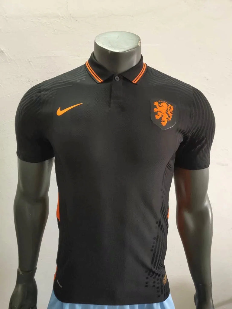 Netherlands PLAYER VERSION National Team Jersey Away-EURO CUP 2020