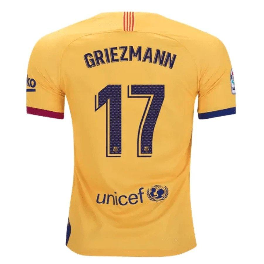 Barcelona GRIEZMANN 17 Football Jersey Away 19 20 Season [Sale Item]