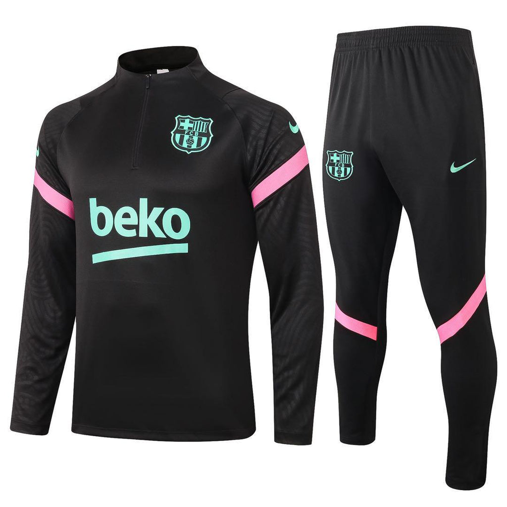 Barcelona Beko Black Training Suit 20 21 Season