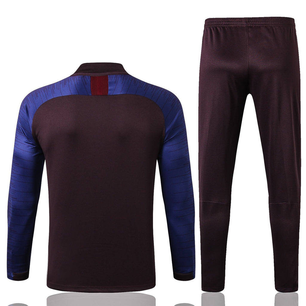 Barcelona Dark Blue and Maroon Training Suit 19 20 Season Training Suit sportifynow