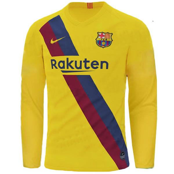 Barcelona Football Jersey Away FULL SLEEVE 19 20 Season [Sale Item]