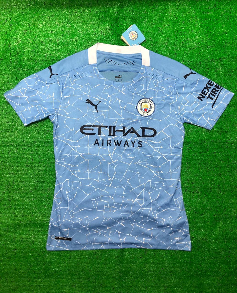Manchester City PLAYER VERSION Football Jersey Home 20 21 Season [Sale Item]