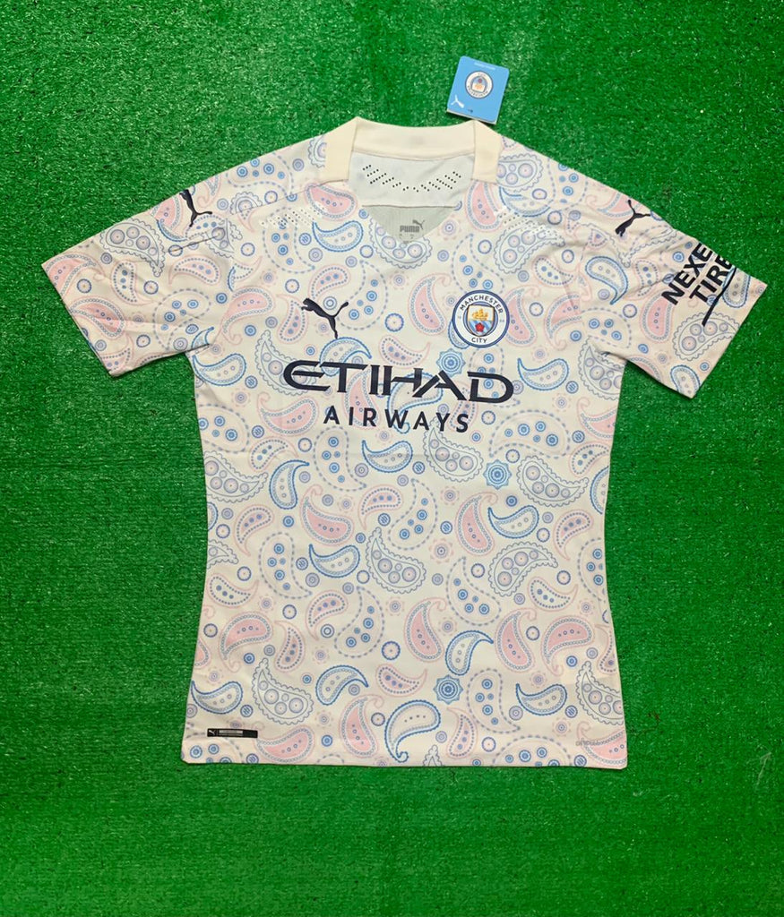 Manchester City PLAYER VERSION Football Jersey Third 20 21 Season [Sale Item]