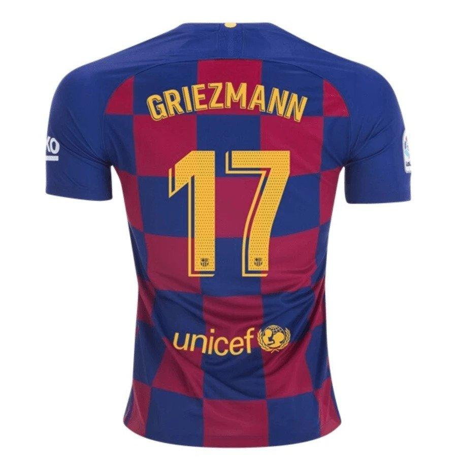 Barcelona GRIEZMANN 17 Football Jersey Home 19 20 Season [Sale Item]