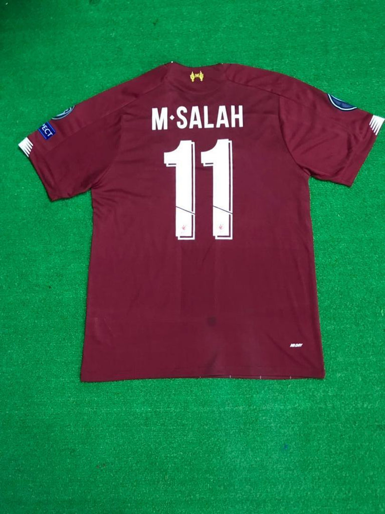 Liverpool SALAH 11 Football Jersey Home With UCL Patch 19 20 Season [Sale Item] Jersey_NS sportifynow