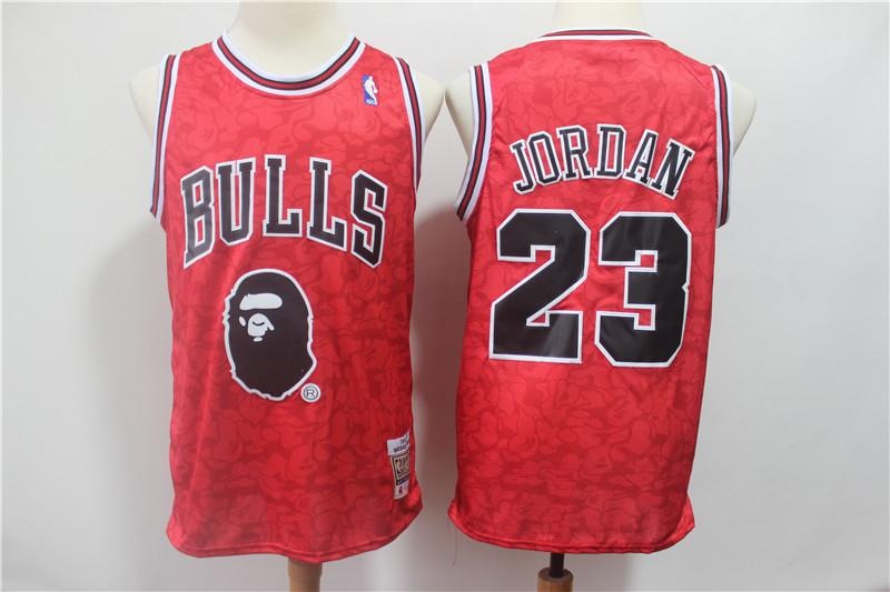 Chicago Bulls Comfortable Monkey Joint Michael Jordan 23 Red NBA Jersey Jersey_NBA sportifynow
