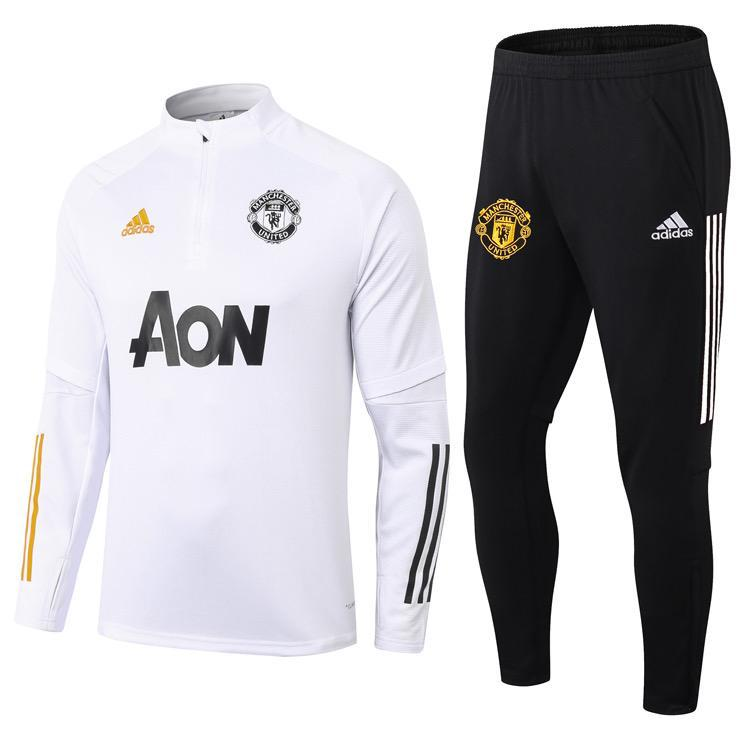 Manchester United White Training Suit 20 21 Season