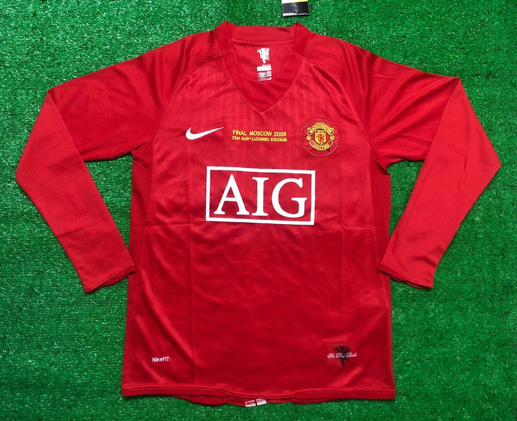 Manchester United FULL SLEEVE 2008 Champions League Final RONALDO 7 Home Retro Jersey [Sale Item]