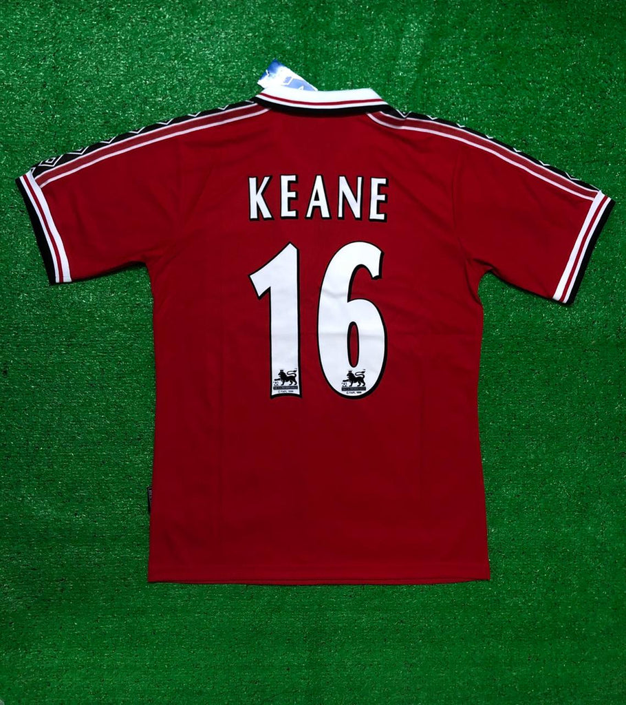 Manchester United KEANE 16 Home 1998 Retro Jersey [Sale Item]