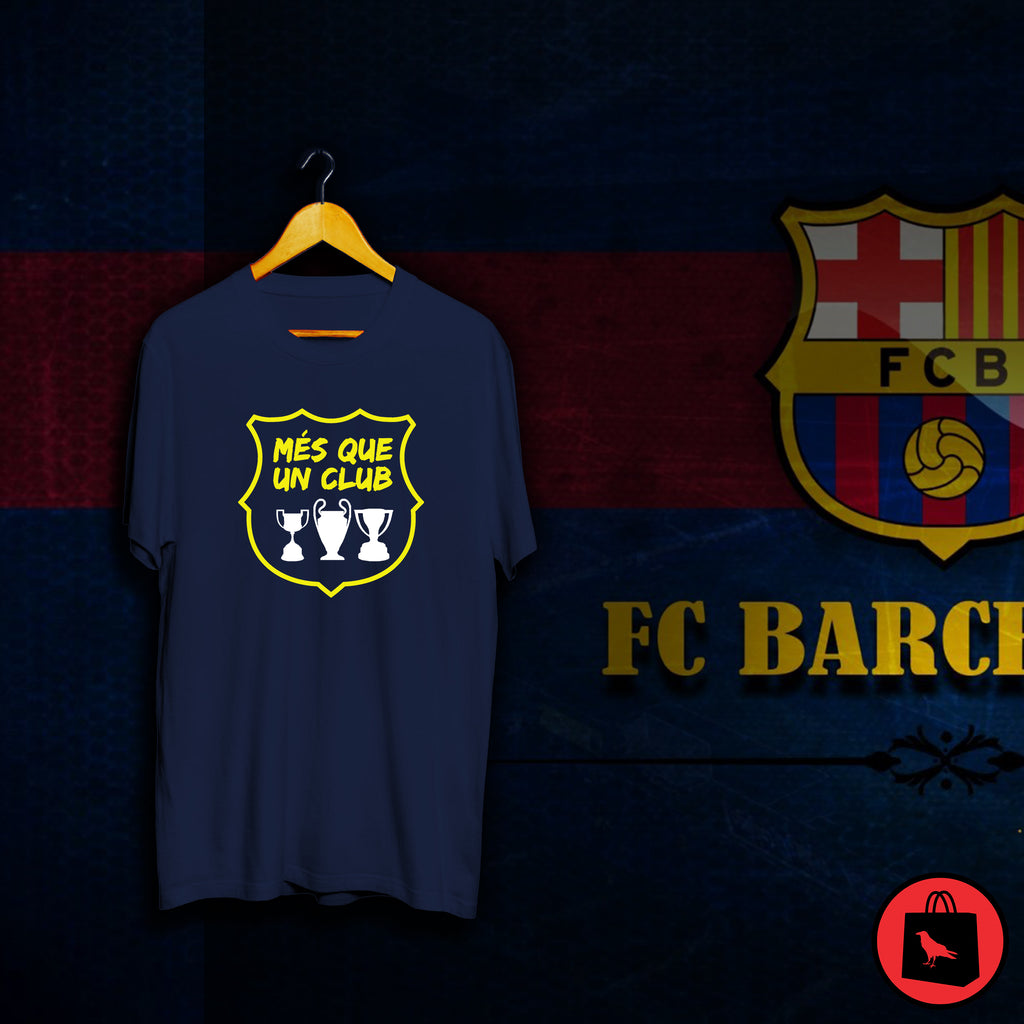 Barcelona Mes Que Un Club Football T Shirt