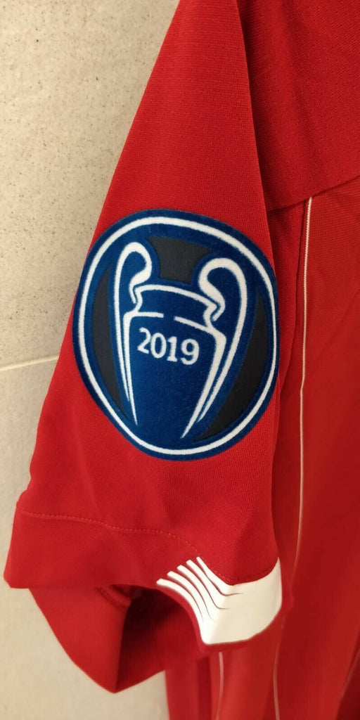 Liverpool CHAMPIONS OF EUROPE Football Jersey Home With UCL Patch 19 20 Season [Sale Item] - sportifynow