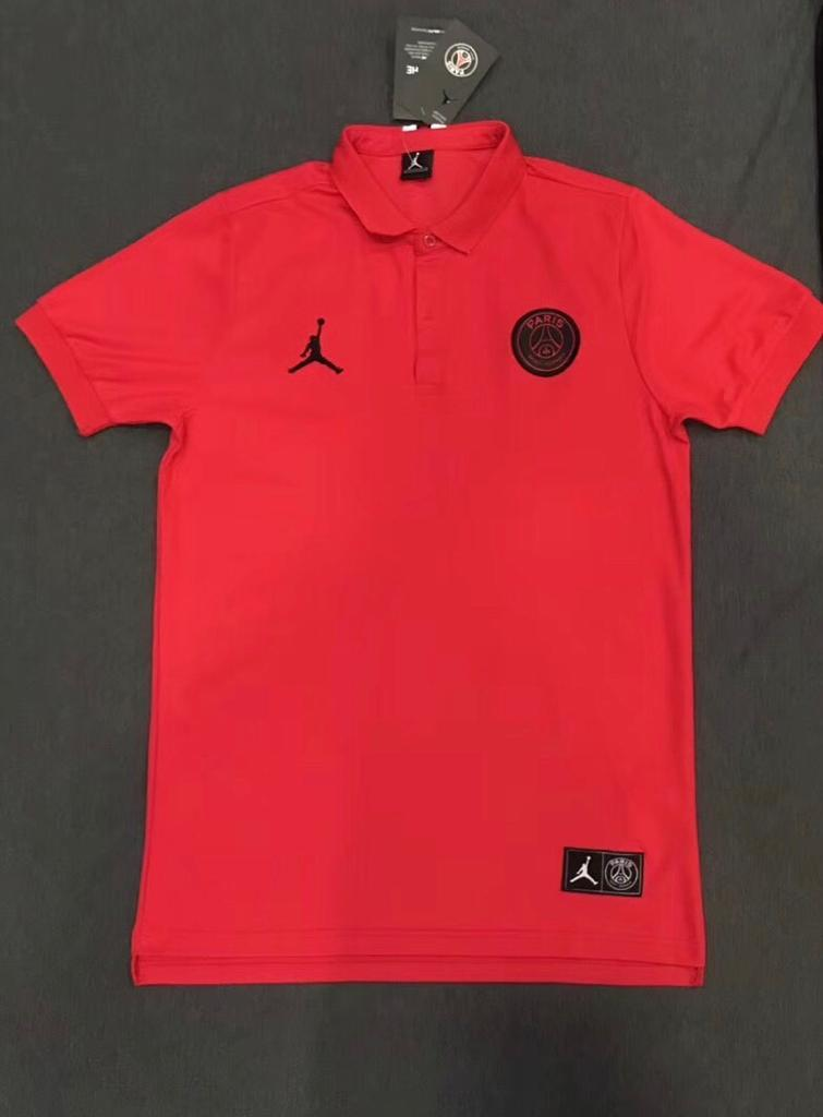 PSG Jordan Red Polo T-Shirt