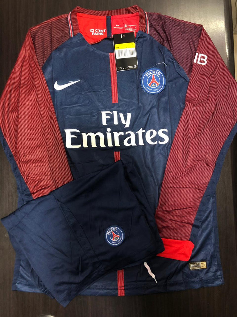 PSG Football Jersey Home FULL SLEEVE 17 18 Season