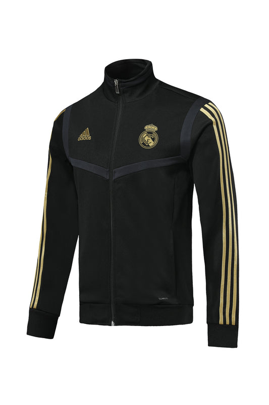 Real Madrid Black With Golden Stripe Jacket 19 20 Season[🔥CLEARANCE SALE🔥]