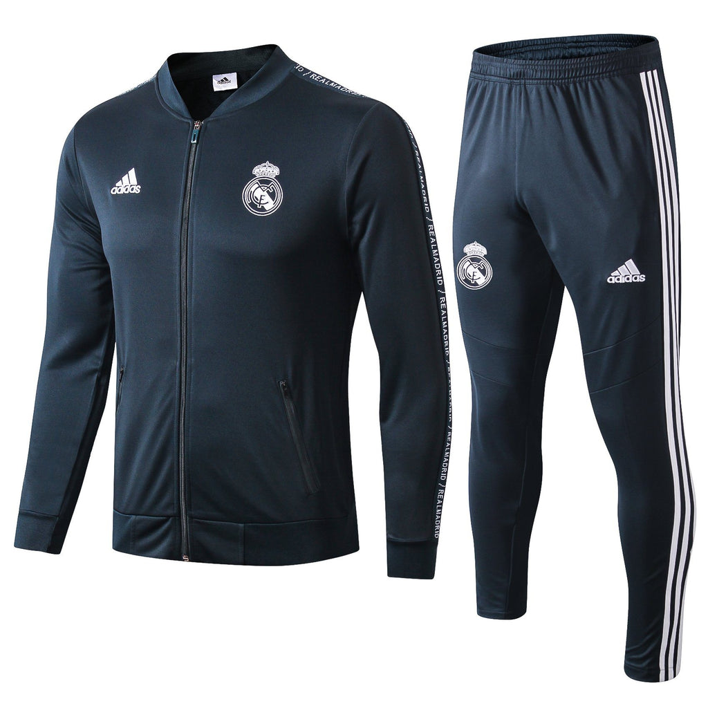 Real Madrid Dark Green Training Suit 19 20 Season Training Suit sportifynow