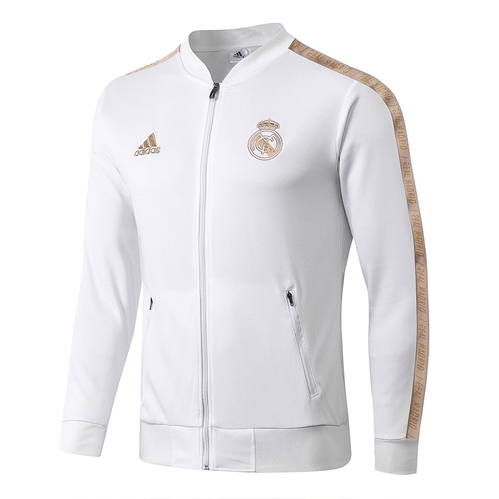 Real Madrid Winter Jacket White 19 20 Season Sweater sportifynow